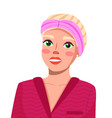 avatar young blonde smiling woman beauty vector image