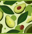 avocado seamless pattern of vector image vector image
