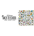 back to school background for your design vector image vector image