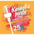 banner with microphone for karaoke parties vector image vector image