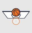 basketball with hoop