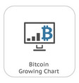 bitcoin growing chart icon vector image