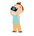 Boy with camera eps 10 vector image vector image