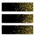 bright gold glitter luxurious abstract modern vector image vector image