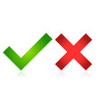 checkmark and cross vector image