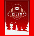 christmas greeting card or poster design vector image vector image