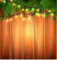 christmas light realistic garland spruce a vector image