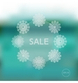 Christmas winter sale template vector image vector image