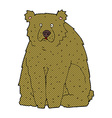 comic cartoon funny bear vector image vector image