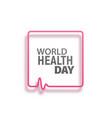 concept logo of world health day vector image