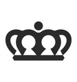 crown black icon elegance and monarchy symbol vector image vector image