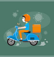 delivery service during covid-19 outbreak vector image