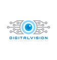 digital vision - logo template concept vector image