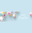 easter horizontal banner or poster vector image vector image