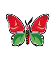 fantastic butterfly butterfly metamorphosis rose vector image