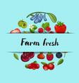 farm fresh berry banner vector image vector image