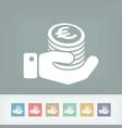 financial icon - euro vector image vector image