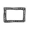 frame hand drawn in black vector image vector image