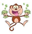 funny monkey cartoon character jumping vector image vector image