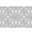 geometric seamless pattern with linear vector image vector image