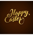 Gold Foil Happy Easter Greeting Egg Card vector image vector image