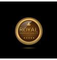 Golden Royal label vector image vector image