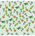 grean peas pod vector image vector image