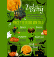 halloween horror party banner with ghost house vector image vector image