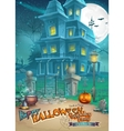 Holiday card with a mysterious Halloween haunted vector image vector image