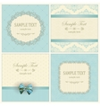 Invitation cards with pattern vector image vector image
