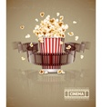 Jumping popcorn and movie vector image vector image