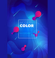 liquid color futuristic design poster background vector image vector image