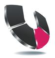 logo u gray vector image