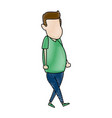 man avatar standing character male icon vector image vector image