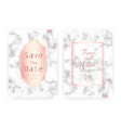 marble wedding invitation card vector image vector image