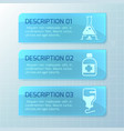 medical horizontal banners vector image vector image