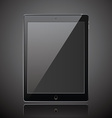 New realistic tablet modern style dark background vector image
