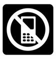 no mobile icon vector image vector image