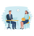 office employer interview vector image vector image