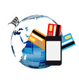 Online shopping mobile phone vector image vector image