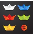 paper origami ship icon Colorful origamy vector image vector image