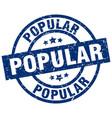 popular blue round grunge stamp vector image vector image