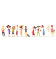 pregnant women set many views of pregnant smile vector image vector image