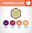 process chart infographics3 vector image