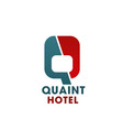 q letter wing icon for hotel vector image vector image
