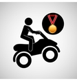 quad bike medal sport extreme graphic vector image vector image