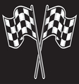racing flag dve kontrast vector image vector image