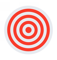Red and white target vector image vector image