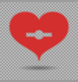 red heart with keyhole and shadow vector image