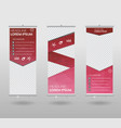 roll up banner template and info graphics stand